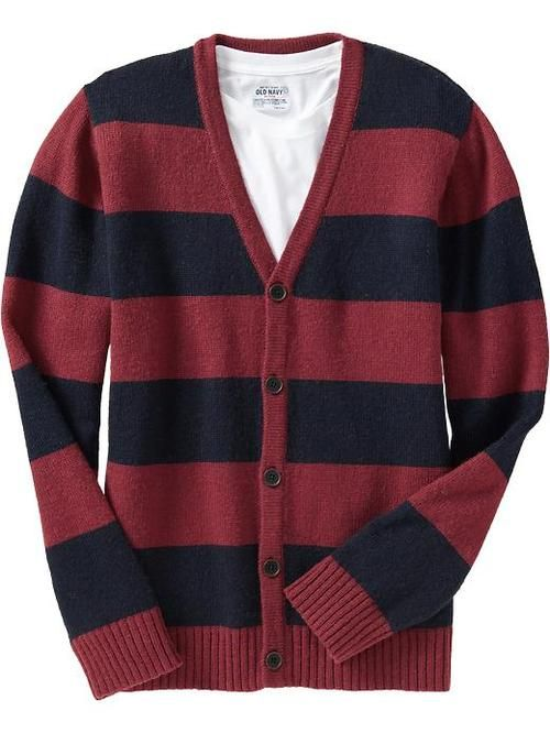 Old Navy red striped cardigan. $22.50