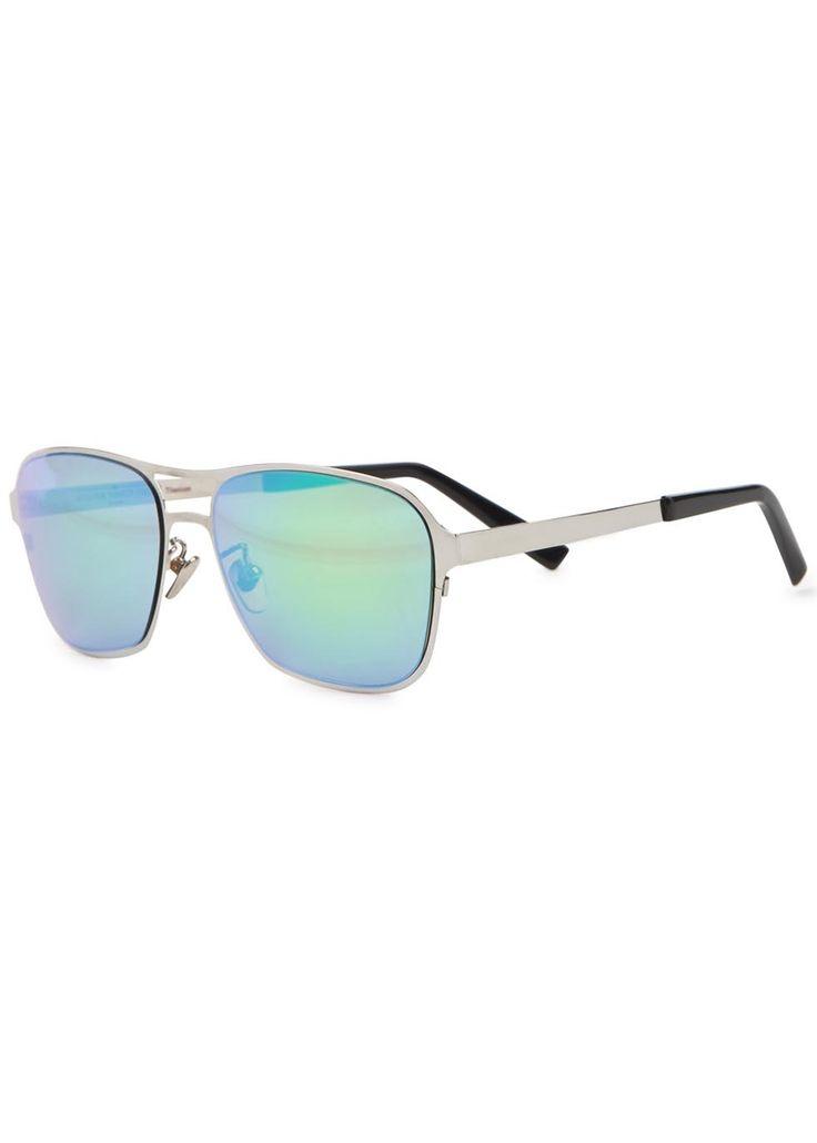 Handmade Atelier Vingt-Deux titanium sunglasses Pink�mirrored lenses, black acetate tips 100% UV protection