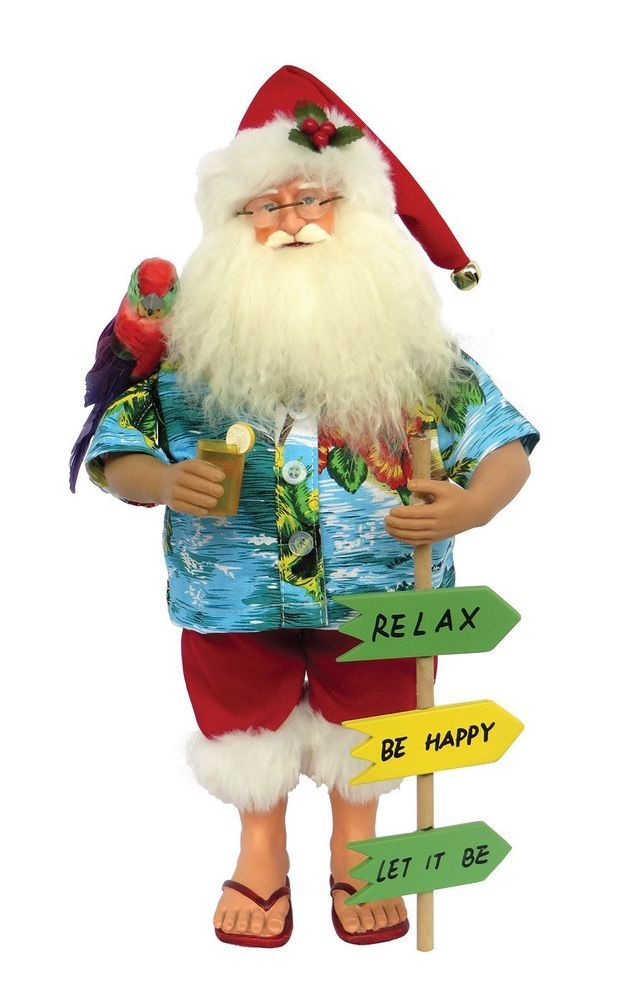 Santa Claus Figurine Beach 15'' Xmas Decoration Home Decor Living Room #SantasWorkshop=> Easy & pleasant transaction => Quick delivery => 100% Feedback => http://bit.ly/24_hours_open #Christmas,#tree,#decor,#Santa,#xmas,#decoration,#inflatable,#holiday,#party,#sandaclaus,#yard,#garden,#patio,#accessories