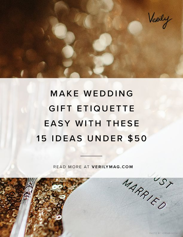 Make Wedding Gift Etiquette Easy With These 15 Ideas Under $50