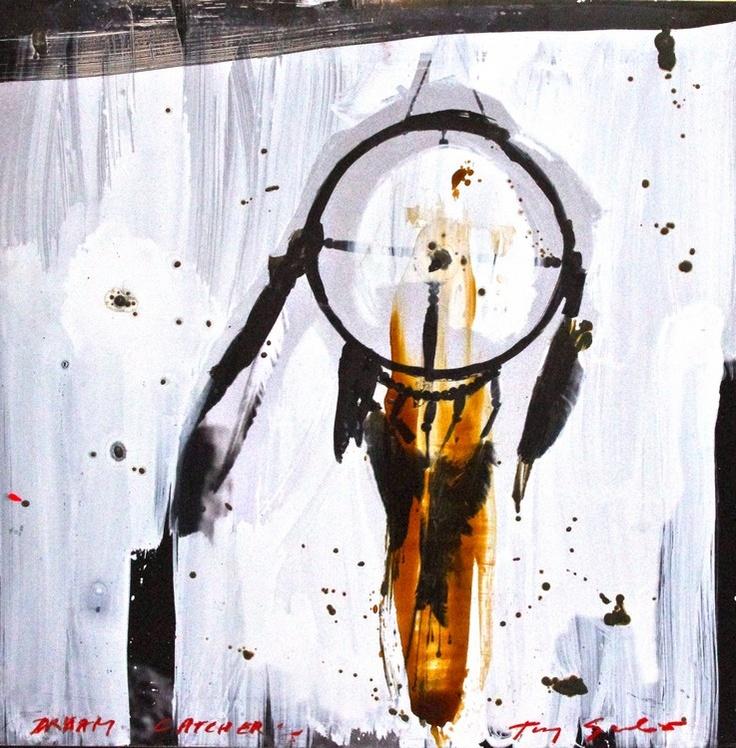 """""""Dream catcher, 2010"""" by Tony Soulié -  Mixed technique on wood 125 x 125 cm #Dreamcatcher #Soulié #photograph #painting #art"""