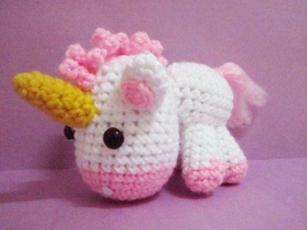 Amigurumi Unicornio Coton con patrón | Terapia Ganchillera | 465x620
