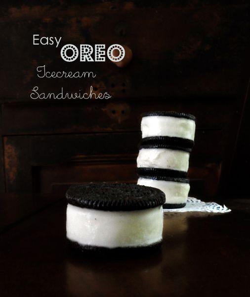Easy Oreo Icecream Sandwiches #Oreo #Icecream