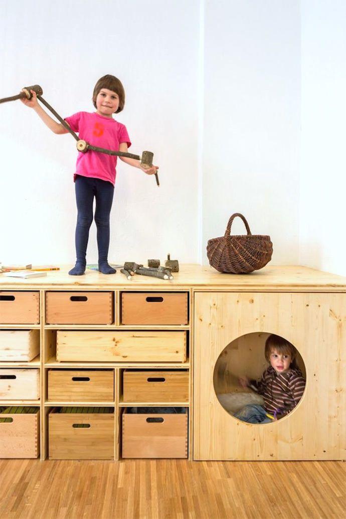 almacenaje en habitación infantil #mellizos