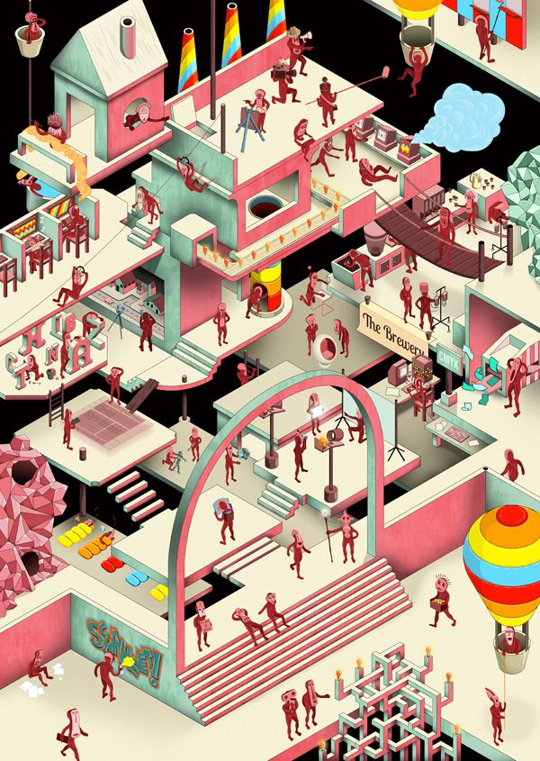 The Idea Factory by Inus Pretorius, via Behance