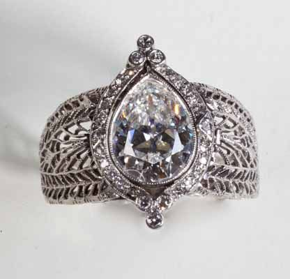 Art Deco Jewelry Antique | magnificent example of Art Deco period jewelry making: A 2 Carat ...