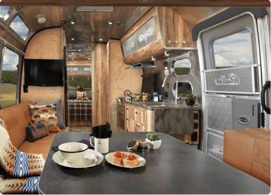 This limited edition Airstream includes an accessory kit from Pendleton's famous National Park Collection, perfect for any outdoor enthusiast.