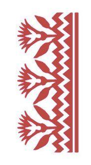 Free stencil Outline- Ancient Egyptian Decorative Ornament