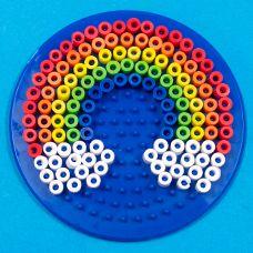 Rainbow perler fuse bead pattern