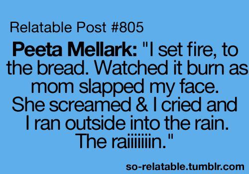 Ok. I love Hunger Games but I thought this was really funny. :) I DO NOT OWN THI