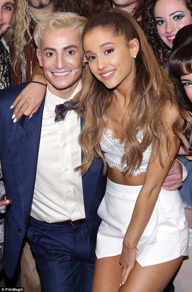 No sibling rivalry here: Ariana Grande was pictured backstage of the Rock Of Ages musical on Broadway while visiting her older brother Frankie J. Grande on Sunday