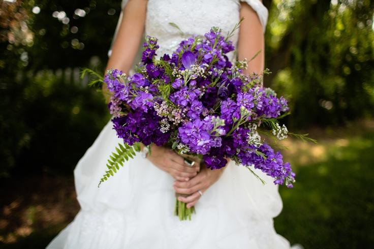 Purple Stock Flowers Bouquet