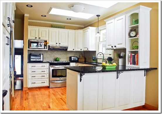 Best Dated Oak Cabinets To White And Fresh Before After 400 x 300