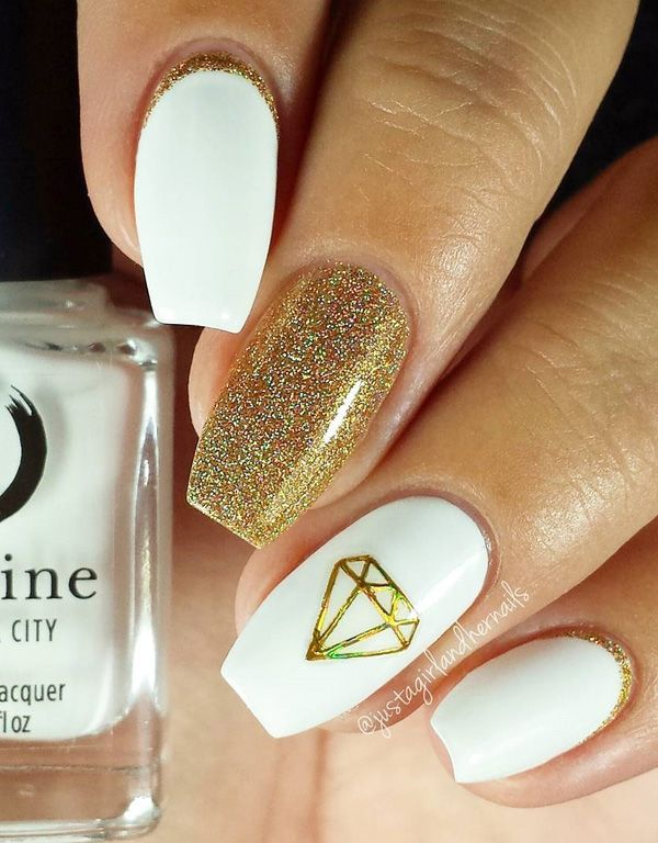 gold-nail-32 - 45 Gold Nails You Wish to Try   <3