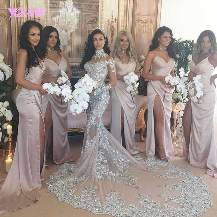 Find More Wedding Dresses Information about YQLNNE  2018 Luxury Gray Lace Mermaid Wedding Dress Bridal Gown High Neck Sweep Train Vestido De Noiva,High Quality vestido de noiva,China de noiva Suppliers, Cheap bridal gown from YQLNNE suzhouweddings Store on Aliexpress.com