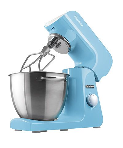 Sencor STM 42 BL stand mixer Mine is the color of tiny flowers on the banks of clear streams. It is the azure color of a cloudless sky, full of fresh air and sunshine, cheerful and good-natured, carefree, and maybe just a little bit magical. I have a heart of steel, I'm driven by a reliable 1000W motor, and your wish is my command.
