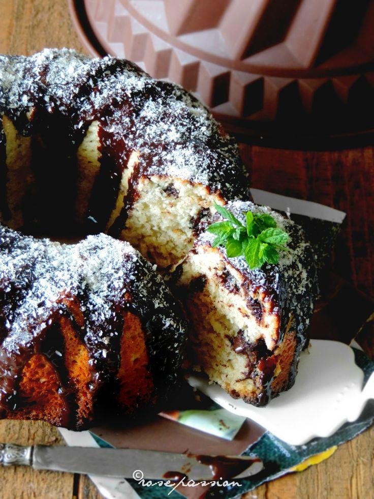 Torta banana, cocco e cioccolato - Bundt cake