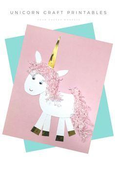 Unicorn Craft Activity Flower Crown And Free Printables Unicorns