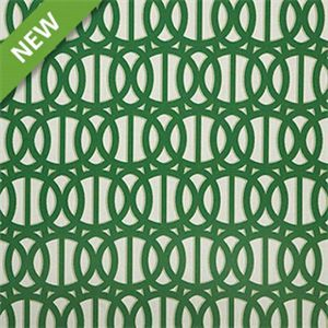 This geometric green and white print from Sunbrella Fabrics is an indoor/outdoor fabric that will add an interesting touch to any decor. It is resistant to UV rays, water, soil, stains, mold and mildew, making it a worry free addition to any room of your home, the porch or marine interiors. Suitable for drapes, pillows, and cushions, you will find that it is also sturdy enough for your upholstery needs.v234PEFA