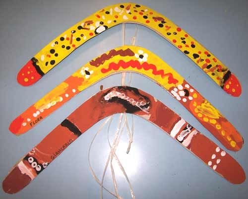 In de Australische cultuur zijn de aboriginals  de eerste australiers zij gebruiken boomerrangs om te jagen