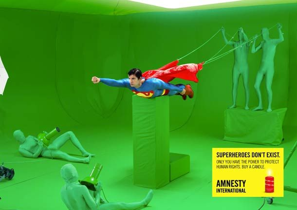 Superheroes don't exist – Amnesty International