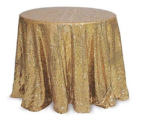 Gold Sequin Tablecloth Table Cloth Wedding By Fantasyfabricdesigns
