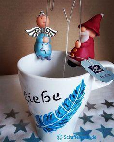 Selbstgemachte Teebeutelhalter. Ideal als Weihnach…