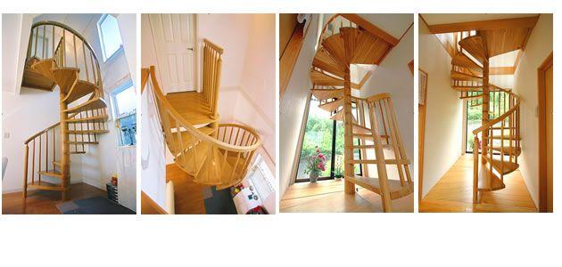 おしゃれな室内らせん階段キ #らせん階段 #木製らせん階段