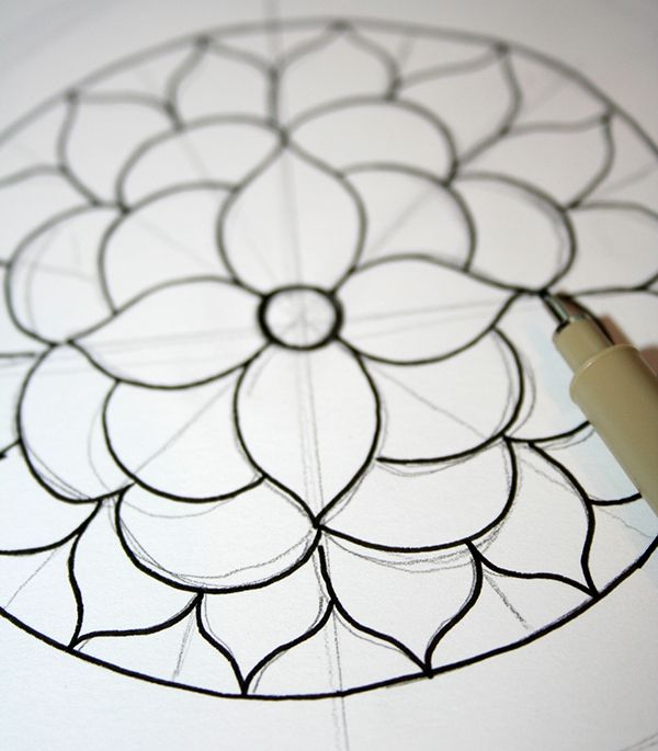 How to Draw a Mandala (With FREE Coloring Pages!)