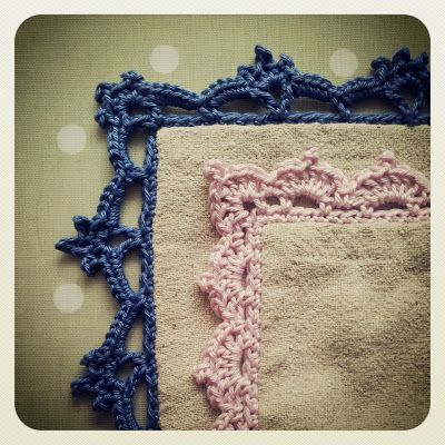 Crochet Edgings Light pink edge Free  ╭⊰✿Teresa Restegui http://www.pinterest.com/teretegui/✿⊱╮
