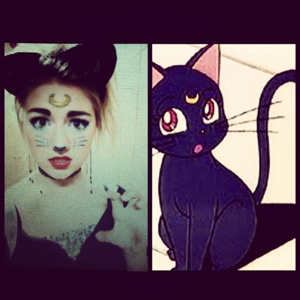Sailor moon cat cosplay