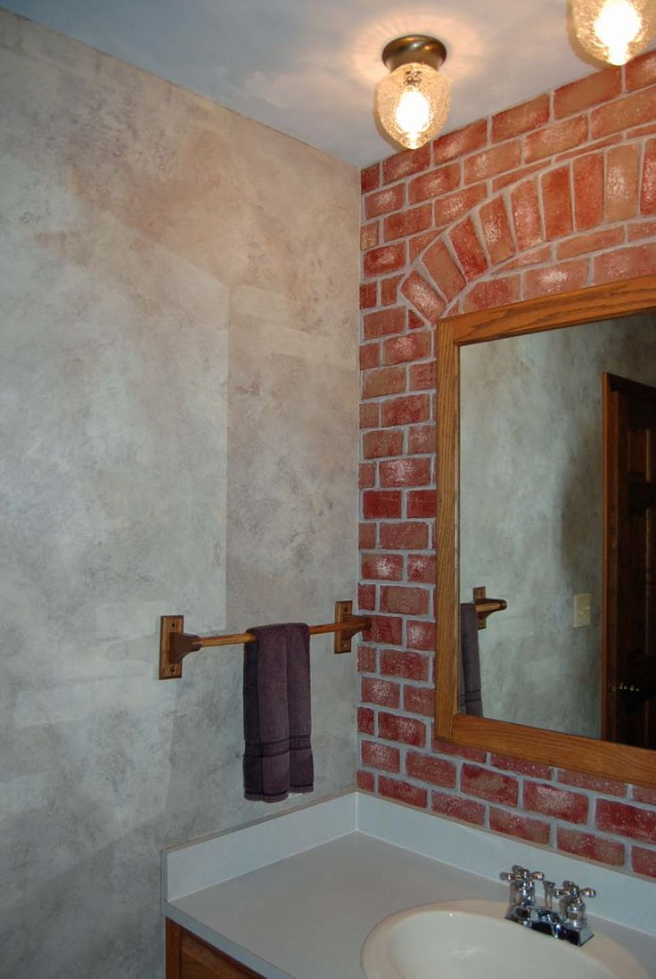 Faux painting bathroom - Faux Brick Painting Paint Walls Are A Faux Old World Look Ceiling