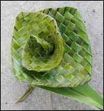 Ali Brown shows us how to weave flowers from native New Zealand flax. I've got her book which is rather fabulous.