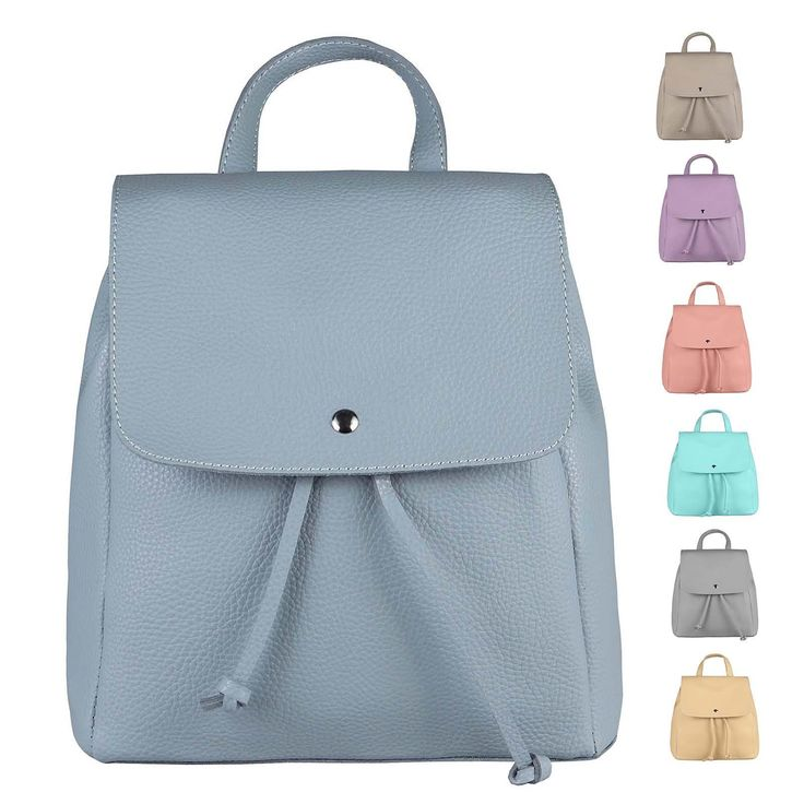 DAMEN RUCKSACK Cityrucksack LEDER optik Tasche Schultertasche Stadtrucksack Handtasche Daypacks Backpack – Italyshop24.com