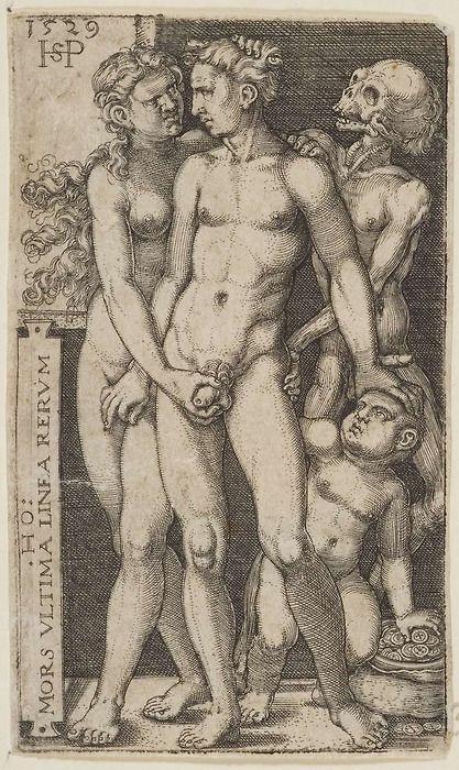 Hans Sebald Beham, Death and the Indecent Pair,1529