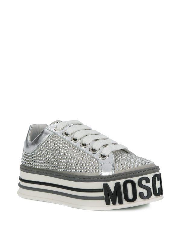 Moschino Logo Platform Sneakers