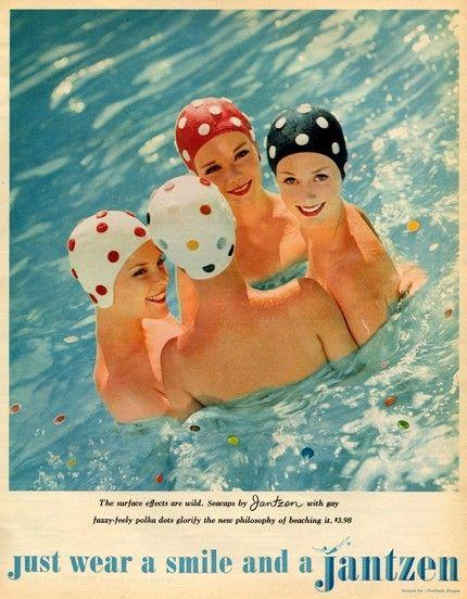 Image detail for -Mothic Flights And Flutterings, Jantzen bathing caps c. 1950s
