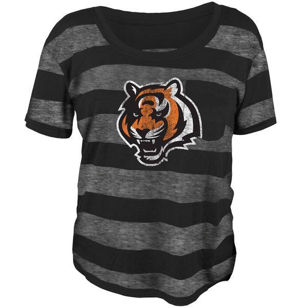 Cincinnati Bengals Juniors Bolder Burnout T-Shirt - Black - $23.99