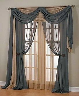 39 best burgundy decor images on pinterest burgundy - Pictures of different ways to hang curtains ...