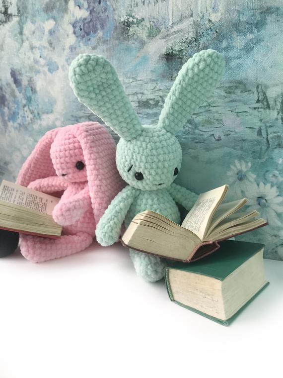 PDF Pattern Crochet Toy Bunny Sweet bunnies Rose & Mint Amigurumi Pattern
