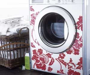 decoration for the washer?If you don't like it, just skinit!  Brilliant, just like our phones!