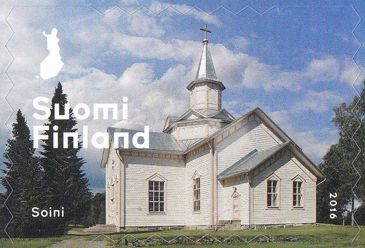 Stamp: Church in Soini (Finland) (Wooden Pauper tradition) Mi:FI 2475