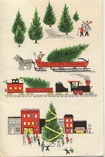 vintage Christmas card #vintagechristmas #vintagechristmasideas #vintagechristmascard