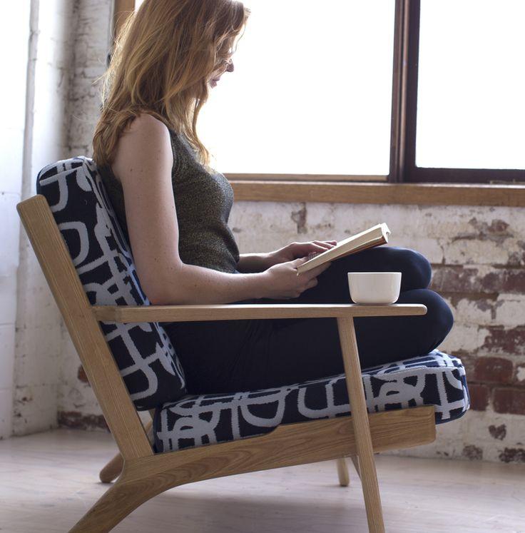 Daisy Watt - RMIT Textile Design. Double Weave, jacquard couch.