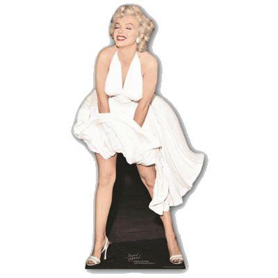 Groot decoratie bord Marilyn Monroe/geprinte foto. Een groot decoratie bord van Marilyn Monroe die ter decoratie neergezet of opgehangen kan worden. Dit grote decoratieve Monroe bord van karton is ongeveer 157 cm groot en kan zelfstandig staan door middel van een achter steun.