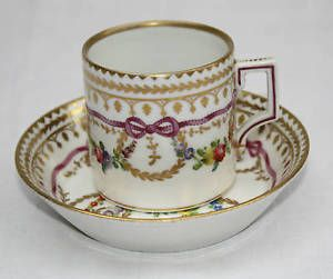 MAGNIFICENT-19C-ROYAL-VIENNA-HAND-PAINTED-CUP-amp-SAUCER