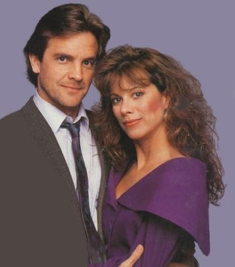 Santa Barbara photo of Lane Davies and Nancy Lee Grahn (Mason and Julia) from the 1980s.