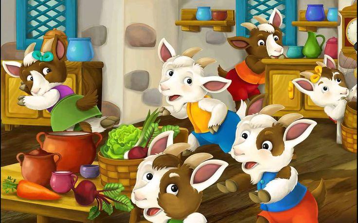 The seven goatlings - fairy tale for children - Lector EN