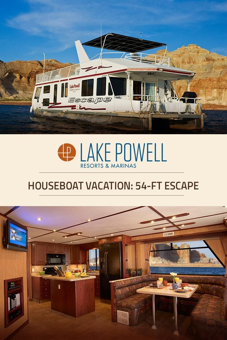 Looking for a luxury houseboat for your Lake Powell vacation? The Escape Luxury Houseboat was designed for slightly smaller groups that enjoy all the comforts of home.
