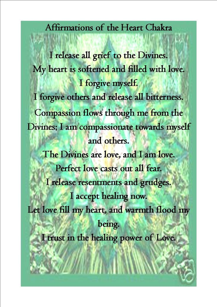 heart chakra affirmations - Google Search